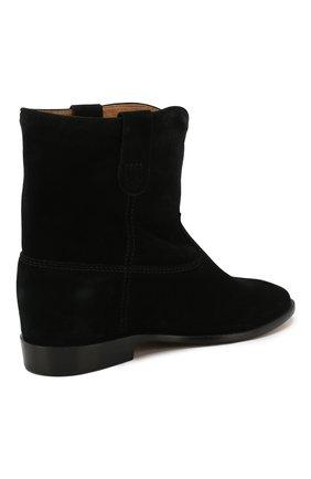 Женские замшевые ботинки crisi ISABEL MARANT черного цвета, арт. CRISI/B00103-00M103S | Фото 4