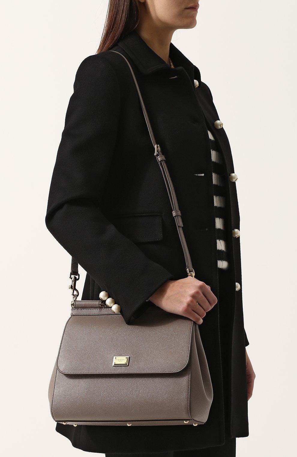 Сумка Sicily medium new Dolce & Gabbana светло-серая цвета | Фото №5