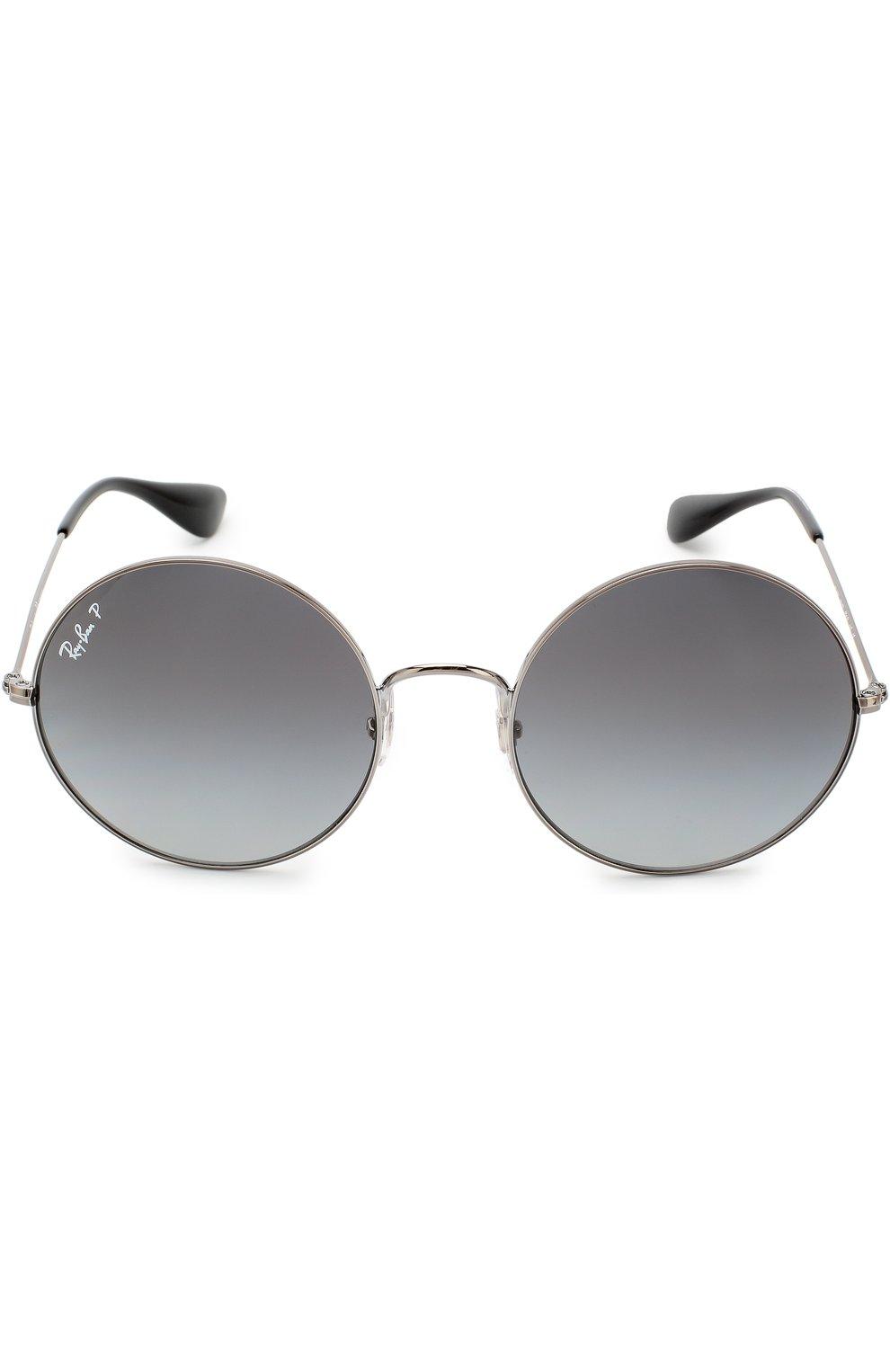 Женские солнцезащитные очки RAY-BAN серебряного цвета, арт. 3592-004/T3 | Фото 2
