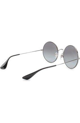 Женские солнцезащитные очки RAY-BAN серебряного цвета, арт. 3592-004/T3 | Фото 3
