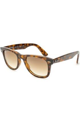 Женские солнцезащитные очки RAY-BAN коричневого цвета, арт. 4340-710/51 | Фото 1