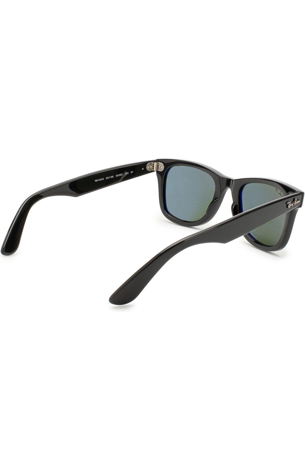 Женские солнцезащитные очки RAY-BAN черного цвета, арт. 4340-601/58   Фото 3