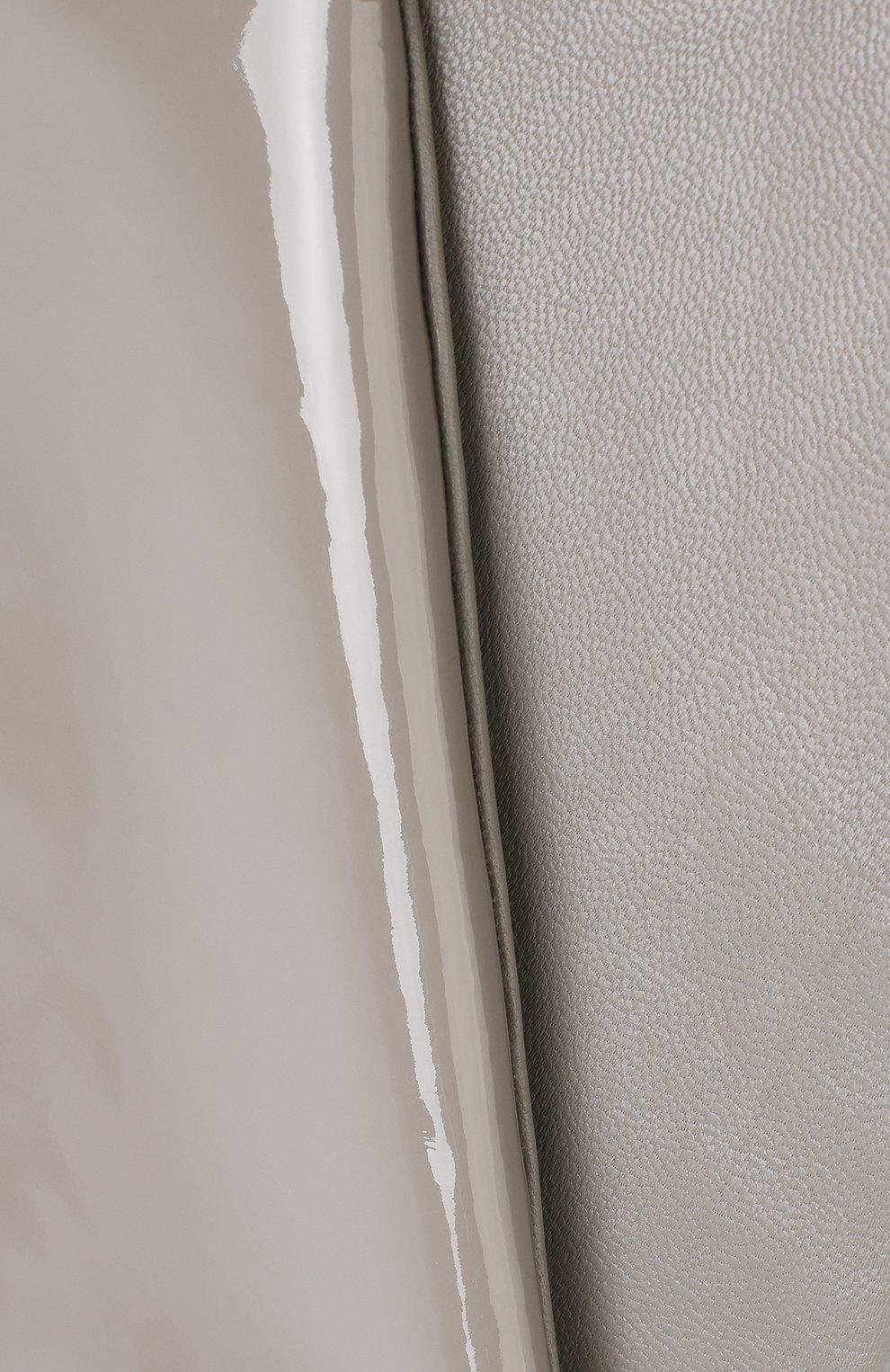 Удлиненные кожаные перчатки с лакированной отделкой | Фото №3