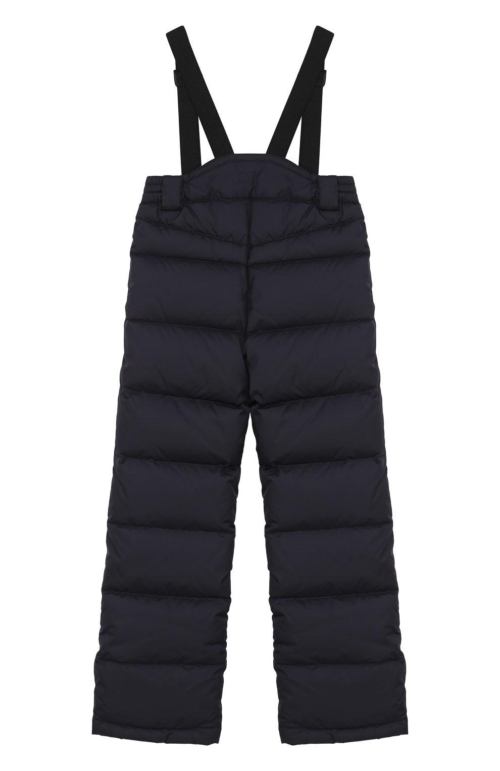 Пуховые брюки на подтяжках | Фото №2