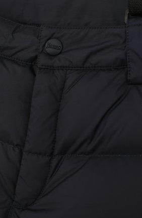 Пуховые брюки на подтяжках | Фото №3