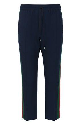 Шерстяные укороченные брюки с поясом на кулиске | Фото №1