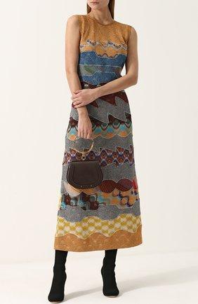 Приталенное вязаное платье-миди | Фото №2