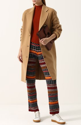 Шерстяные брюки прямого кроя с принтом Missoni разноцветные | Фото №1