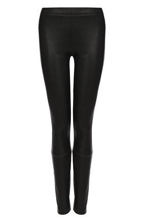 Однотонные кожаные брюки-скинни Haider Ackermann черные | Фото №1