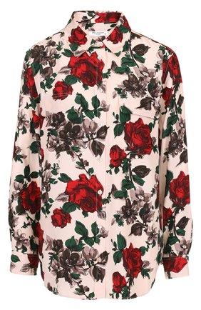 Женская шелковая блуза свободного кроя с принтом Equipment, цвет разноцветный, арт. Q3065-E035 в ЦУМ | Фото №1