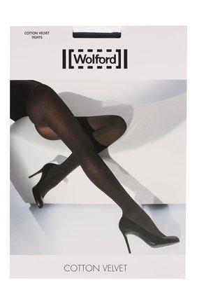 Женские колготки cotton velvet WOLFORD синего цвета, арт. 11130 | Фото 1