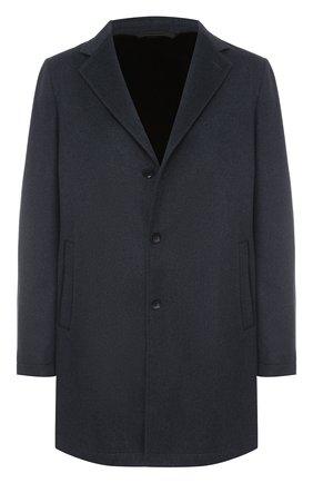 Однобортное пальто из шерсти викуньи с меховой подкладкой | Фото №1