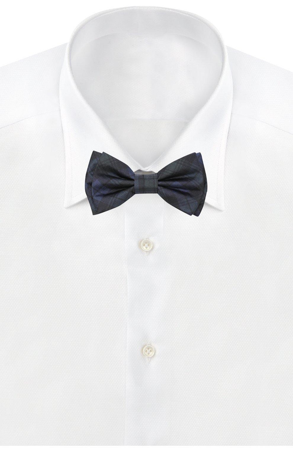 Мужской шелковый галстук-бабочка BOSS зеленого цвета, арт. 50380651 | Фото 2