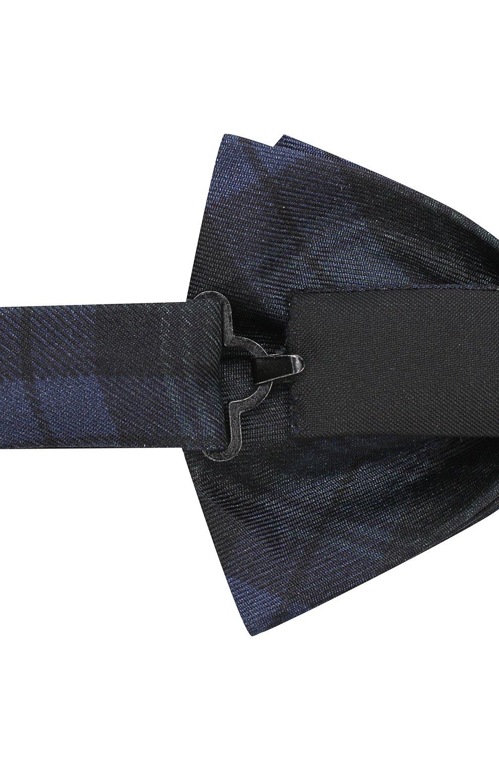 Мужской шелковый галстук-бабочка BOSS зеленого цвета, арт. 50380651 | Фото 3