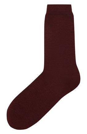 Женские однотонные шерстяные носки OROBLU бордового цвета, арт. V0BFW10S0 | Фото 1