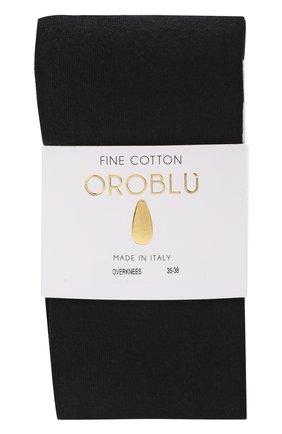 Женские однотонные хлопковые носки OROBLU черного цвета, арт. V0BFC1000 | Фото 1