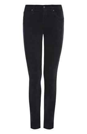 Укороченные однотонные джинсы-скинни | Фото №1