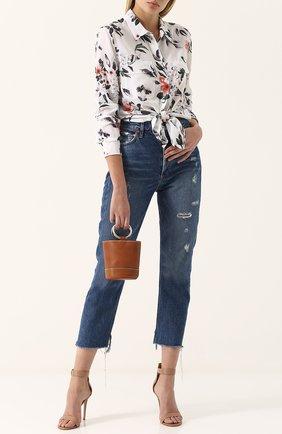 Женская шелковая блуза с цветочным принтом Equipment, цвет разноцветный, арт. Q3115-E231 в ЦУМ | Фото №1