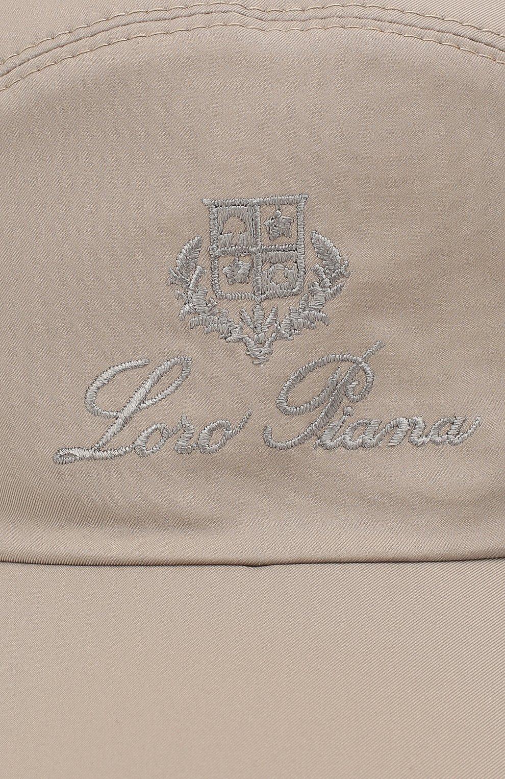 Мужской бейсболка с логотипом бренда LORO PIANA бежевого цвета, арт. FAF8517 | Фото 3