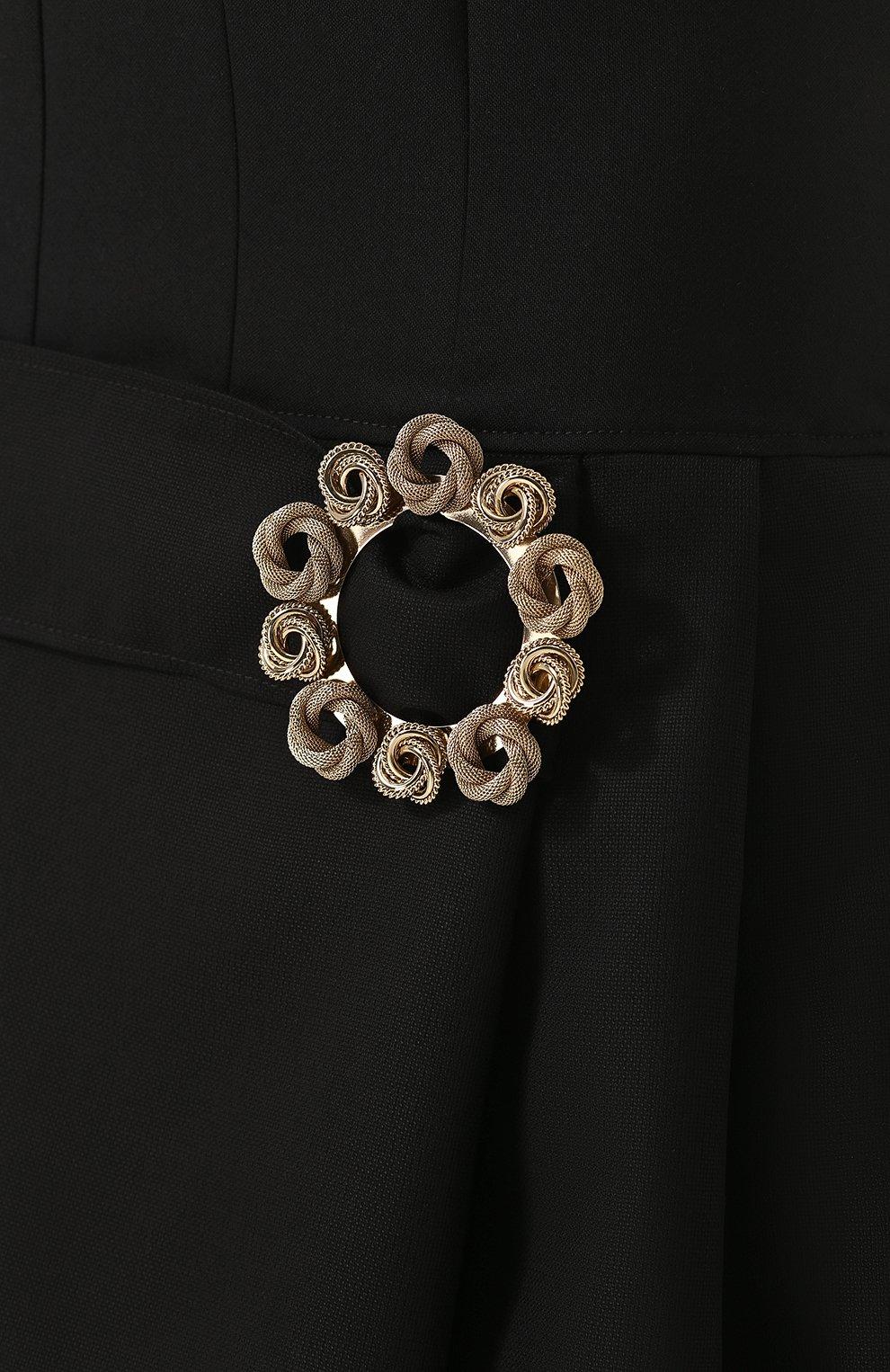 11b7437ed0e Женское черное приталенное шерстяное платье-миди JACQUEMUS — купить ...