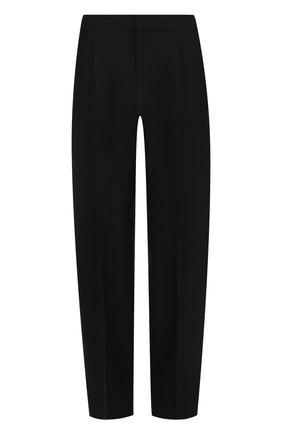 Однотонные шерстяные брюки со стрелками Jacquemus черные   Фото №1