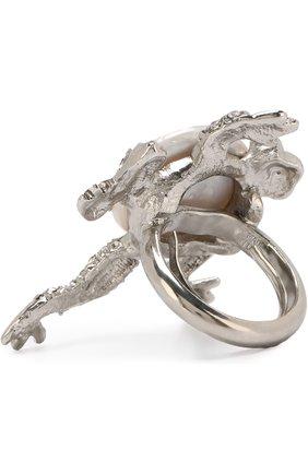 Женское кольцо с отделкой из кристаллов и жемчуга OSCAR DE LA RENTA серебряного цвета, арт. R18J406ASL | Фото 2