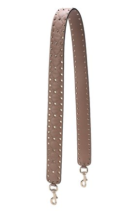 Женские кожаный ремень для сумки valentino garavani rockstud spike VALENTINO бежевого цвета, арт. PW2P0P37/NAP | Фото 1