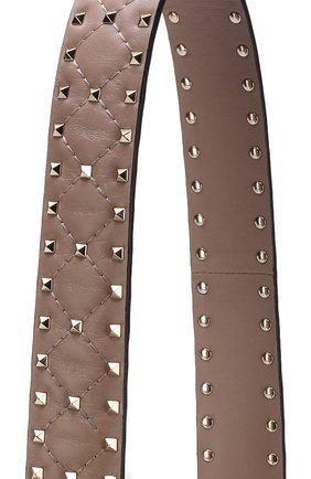 Женские кожаный ремень для сумки valentino garavani rockstud spike VALENTINO бежевого цвета, арт. PW2P0P37/NAP | Фото 2
