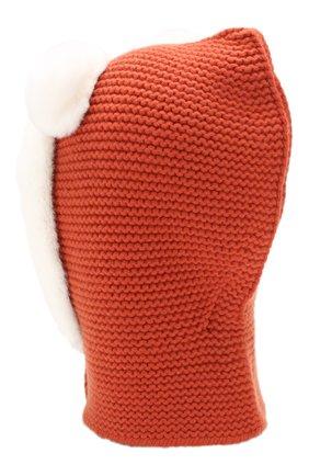 Женская кашемировая балаклава LORO PIANA оранжевого цвета, арт. FAG4755   Фото 2 (Материал: Шерсть, Кашемир; Статус проверки: Проверено, Проверена категория)