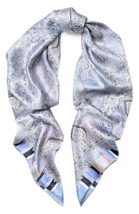 Женский шелковый платок с принтом MICHELE BINDA разноцветного цвета, арт. 18025461 | Фото 1