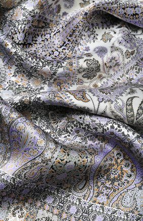 Женский шелковый платок с принтом MICHELE BINDA разноцветного цвета, арт. 18025461 | Фото 2