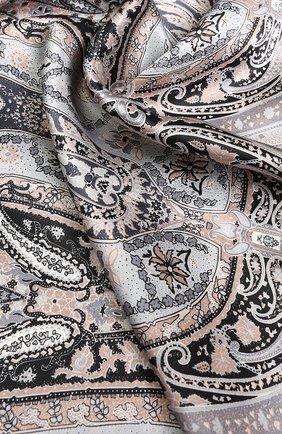 Женский шелковый платок с принтом MICHELE BINDA разноцветного цвета, арт. 18028975 | Фото 2
