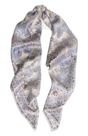 Женский шелковый платок с принтом MICHELE BINDA разноцветного цвета, арт. 18033973 | Фото 1