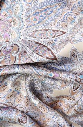 Женский шелковый платок с принтом MICHELE BINDA разноцветного цвета, арт. 18033973 | Фото 2