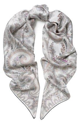 Женский шелковый платок с принтом MICHELE BINDA разноцветного цвета, арт. 18035424 | Фото 1