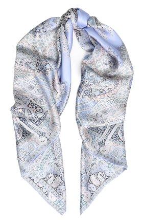 Женский шелковый платок с принтом MICHELE BINDA разноцветного цвета, арт. 18035717 | Фото 1