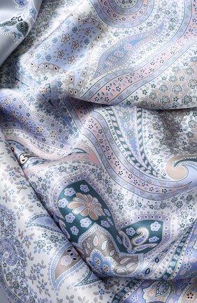 Женский шелковый платок с принтом MICHELE BINDA светло-голубого цвета, арт. 18035915 | Фото 2