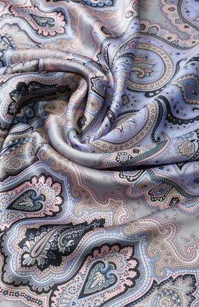 Женский шелковый платок с принтом MICHELE BINDA разноцветного цвета, арт. 18036184 | Фото 2
