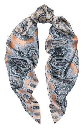Женский шелковый платок с принтом MICHELE BINDA разноцветного цвета, арт. 18036184 | Фото 1