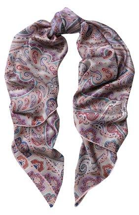 Женский шелковый платок с принтом MICHELE BINDA разноцветного цвета, арт. 18036195 | Фото 1