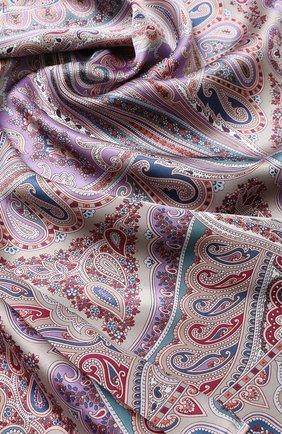 Женский шелковый платок с принтом MICHELE BINDA разноцветного цвета, арт. 18036195 | Фото 2