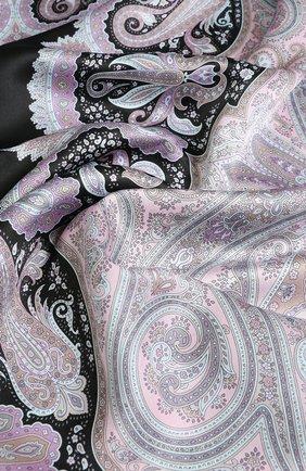 Женский шелковый платок с принтом MICHELE BINDA разноцветного цвета, арт. 18036452 | Фото 2