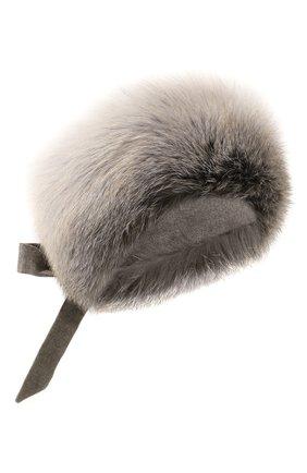 Повязка на голову из меха лисы на завязках | Фото №1