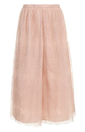 Женская однотонная кружевная юбка-миди ST. JOHN розового цвета, арт. K72PW11   Фото 1
