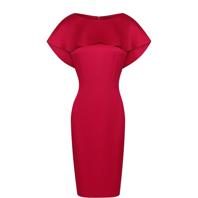 Однотонное платье-футляр с кейпом St. John