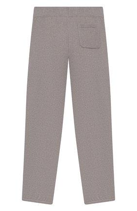 Детского кашемировые брюки LORO PIANA светло-серого цвета, арт. FAG4728   Фото 2