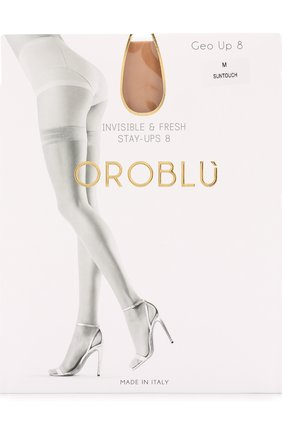 Женские капроновые чулки OROBLU бежевого цвета, арт. V0BC01003   Фото 1
