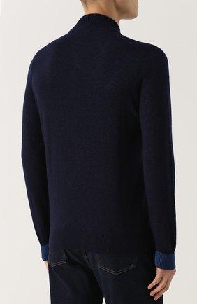 Джемпер из смеси кашемира и шелка с воротником на пуговицах | Фото №4