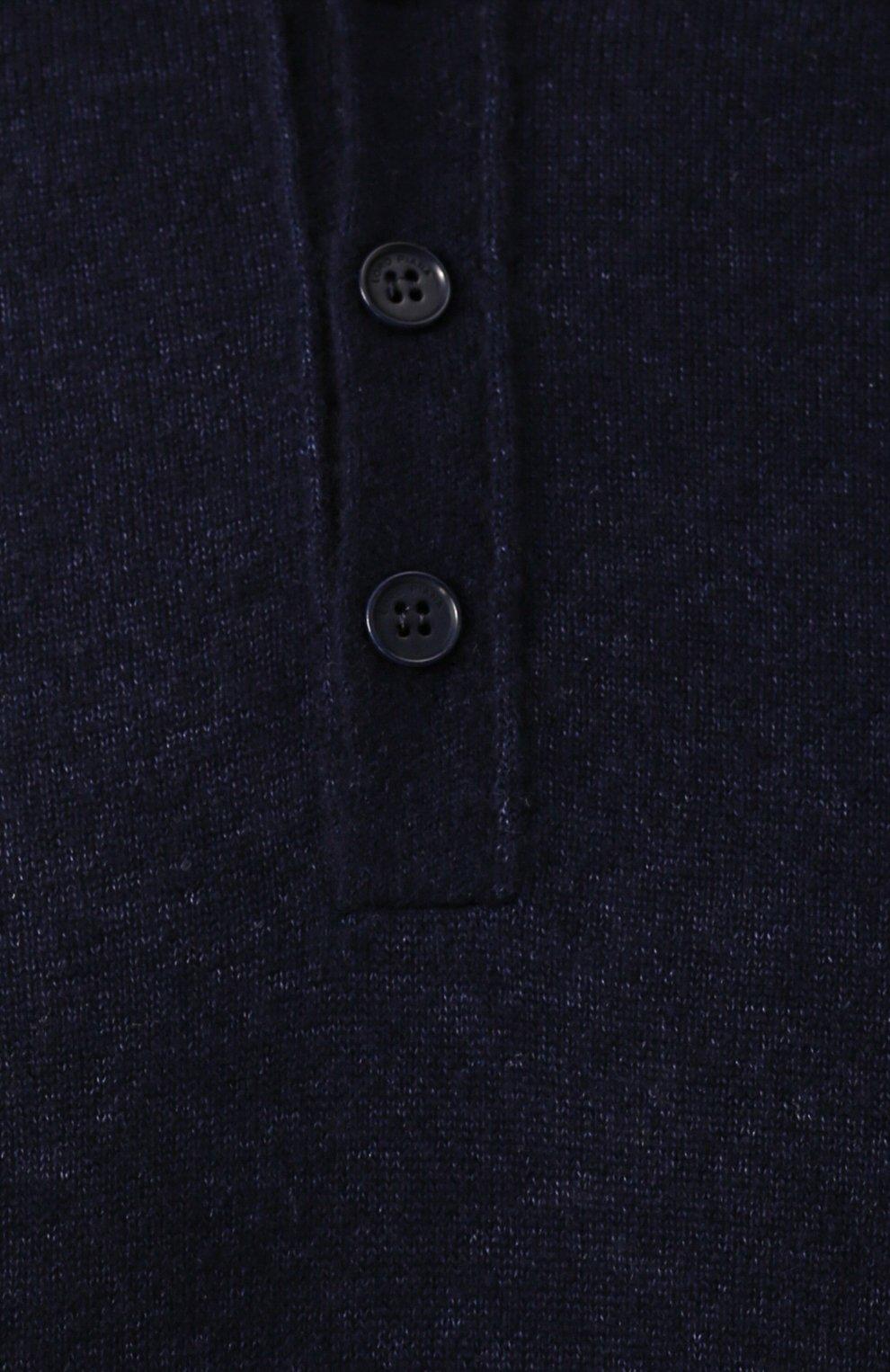 Джемпер из смеси кашемира и шелка с воротником на пуговицах | Фото №5