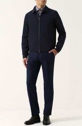 Мужской брюки из смеси шерсти и кашемира ANDREA CAMPAGNA синего цвета, арт. SC/1/VB2109 | Фото 2